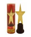 Gouden ster award op standaard