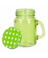 Groen shot glas met deksel