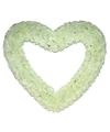 Groot decoratie hart 70 cm wit