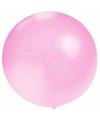 Grote ballon 60 cm baby roze