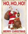 Metalen funplaten Merry Christmas