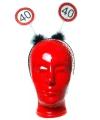 Haarband 40 jaar met verkeersbord print