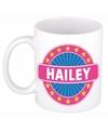 Hailey naam koffie mok beker 300 ml