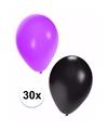 Halloween ballonnen 30 stuks zwart paars