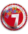 7 jaar helium ballon Happy Birthday
