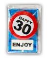 Happy Birthday leeftijd kaart 30 jaar