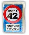 Happy Birthday leeftijd kaart 42 jaar