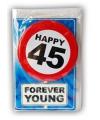 Happy Birthday leeftijd kaart 45 jaar