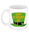 Happy st patricksday mok beker 300 ml