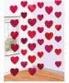 Decoratie slinger met hartjes 6 stuks