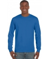 Kobalt blauwe t-shirts lange mouwen top kwaliteit
