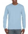Lichtblauwe t-shirts lange mouwen top kwaliteit