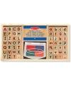 57-delige stempelset alfabet