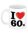 I love 60 s beker mok 300 ml