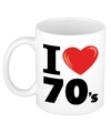 I love 70 s beker mok 300 ml