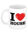 I love house beker mok 300 ml
