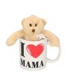 I love mama mok beker met knuffelbeer voor moederdag