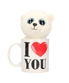 I love you mok met knuffel ijsbeer
