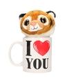I love you mok met knuffel tijger