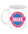 Ineke naam koffie mok beker 300 ml