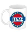 Isaac naam koffie mok beker 300 ml