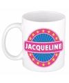 Jacqueline naam koffie mok beker 300 ml