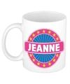Jeanne naam koffie mok beker 300 ml