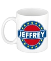 Jeffrey naam koffie mok beker 300 ml