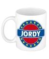 Jordy naam koffie mok beker 300 ml