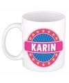 Karin naam koffie mok beker 300 ml