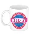 Kelsey naam koffie mok beker 300 ml