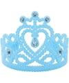 Koninginnen prinsessen tiara blauw