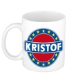 Kristof naam koffie mok beker 300 ml