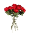 Kunstbloem roos simone rood 45 cm 10 stuks