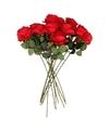 Kunstbloem roos simone rood 45 cm 12 stuks