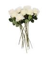 Kunstbloem roos simone wit 45 cm 12 stuks