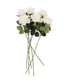 Kunstbloem roos simone wit 45 cm 6 stuks