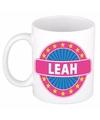 Leah naam koffie mok beker 300 ml