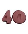 Siliconen bakvormen cijfer 40
