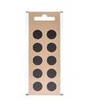 Plakteken punt leesteken zwart 1,5 cm