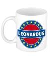 Leonardus naam koffie mok beker 300 ml