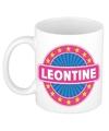 Leontine naam koffie mok beker 300 ml