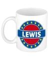 Lewis naam koffie mok beker 300 ml