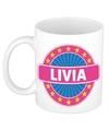 Livia naam koffie mok beker 300 ml