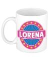 Lorena naam koffie mok beker 300 ml