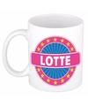 Lotte naam koffie mok beker 300 ml