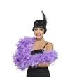 Luxe lila paarse veren boa 80 gram