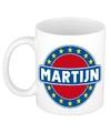Martijn naam koffie mok beker 300 ml