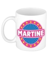 Martine naam koffie mok beker 300 ml