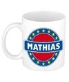 Mathias naam koffie mok beker 300 ml